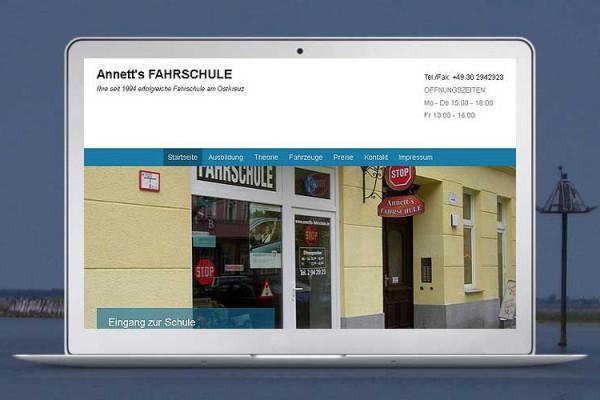 Website Annett's FAHRSCHULE