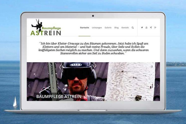 Website Baumpflege ASTREIN